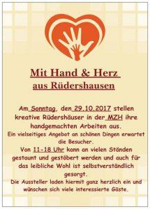 Mit Herz & Hand aus Rüdershausen @ Mehrzweckhalle Rüdershausen | Rüdershausen | Niedersachsen | Deutschland