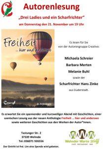 Drei Ladies und ein Scharfrichter / Lesung auf der Wehnder Warte @ Wehnder Warte Wolf | Wehnde | Thüringen | Deutschland