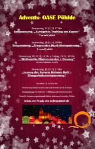 Advents-Oase Pöhlde @ Praxis für Entspannungspädagogik
